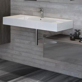 Раковина для ванной подвесная/накладная Roca Inspira 100х49 см керамика белая A32752A000