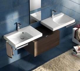 Раковина для ванной подвесная правая Hatria GRANDANGOLO 75х50 см YXF801