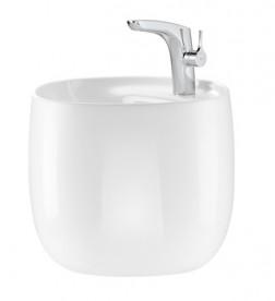 Раковина для ванной подвесная Roca Beyond 46х47с встроенным полупьедесталом и отверстием под смеситель FINECERAMIC белая A3270B1000