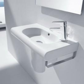 Раковина для ванной подвесная Roca Meridian 60х32 см с отверстием под смеситель справа керамика белая A32724T000