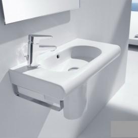 Раковина для ванной подвесная Roca Meridian 60х32 см с отверстием под смеситель слева керамика белая A32724X000