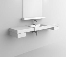 Раковина для ванной прямоугольная Kerasan Cento полувстраиваемая 50х45 см белая 354601