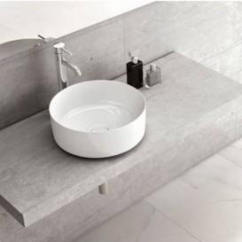 Раковина-чаша для ванной Roca Inspira Round 37х37 см с керамической декоративной крышкой донного клапана A327523000