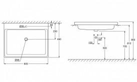 Раковина для ванной встраиваемая Grohe Cube Ceramic 60 см альпин-белый 3947900H