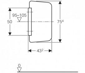 Разделительная панель для писсуаров Geberit стекло серый RAL 7035 115.211.CD.1