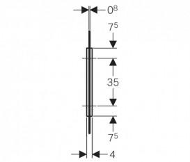 Разделительная панель для писсуаров Geberit стекло белый 115.211.TD.1
