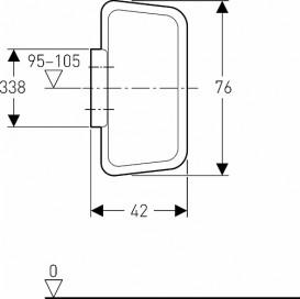 Разделительная панель для писсуаров Geberit Basic пластик белый 115.202.11.1