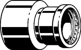 Редуктор Viega SeaPress 0315.1XL d76,1хd54 сплав CuNiFe 90/10 556648