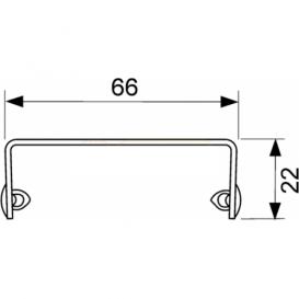 Решетка TECE TECEdrainline Quadratum для душевого трапа полированная прямая 1500 мм нержавеющая сталь 601550