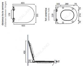 Сиденье с крышкой для унитаза быстросъемное CATALANO ZERO-SFERA с микролифтом ультратонкое черный 5SCSTPNNE