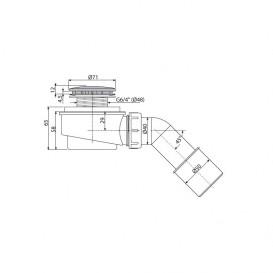Сифон для душевого поддонa AlcaPlast Ø50 мм заниженный A471CR-50