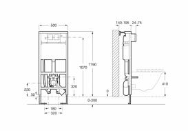 Система инсталляции для подвесных унитазов Roca Duplo сталь A890090800