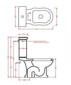 Сливной бачок для унитаза ArtCeram Hermitage чёрный глянцевый HEC001 03;00