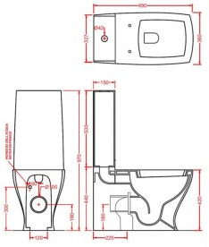 Сливной бачок для унитаза-моноблок ArtCeram JAZZ белый матовый JZC001 05;00