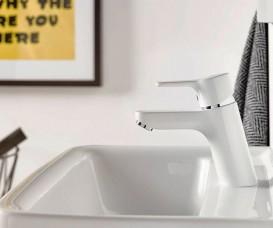 Смеситель для раковины Kludi Pure&Easy однорычажный белый 370289165