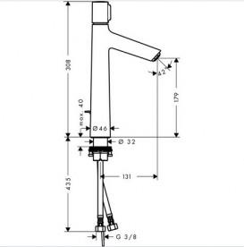 Смеситель для раковины одновентильный высокий Hansgrohe коллекция Talis S 72045000