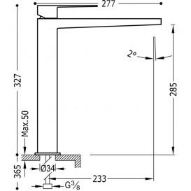 Смеситель для раковины Tres Slim-Tres однорычажный черный/хром 20210305NE