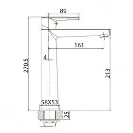 Смеситель для раковины Volle Benita однорычажный латунь хром 15171200