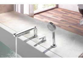 Смеситель для ванны и душа Kludi ZENTA двухрычажный, хром 384240575