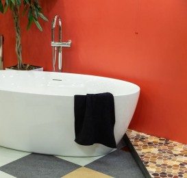 Смеситель для ванны отдельностоящий Volle однорычажный с ручным душем хром 12-33-100