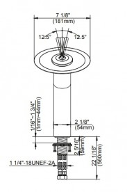 Смеситель водопад для раковины Kraus Single золото KGW-1700G