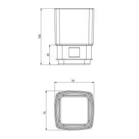 Стакан для зубных щеток Volle Teo матовое стекло с мягким кольцом 15-88-111