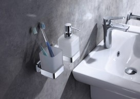 Стакан для зубных щеток Volle Teo настенный матовое стекло 15-88-411