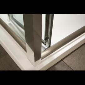 Стенка боковая для душевого уголка Eger 80x195 см для комплектации с дверьми bifold 599-163(h) прозрачное стекло 599-163-80W(h)