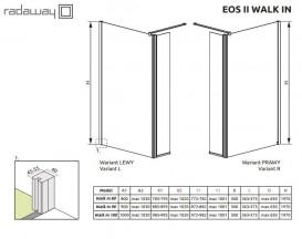 Стенка душевая Radaway Eos II Walk-in 90 левая профиль хром прозрачное стекло 3799501-01L