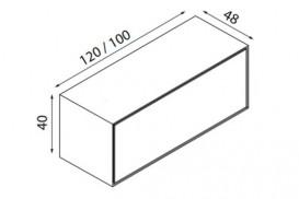 Тумба подвесная для раковины Hatria Sliding wood system 100 с отверстием справа (cut 3) орех YXWF92