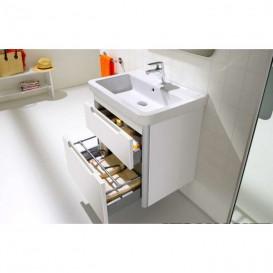 Тумба подвесная с раковиной для ванной Roca Dama-N 60,8х43,4 см белый глянец A851047806