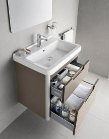 Тумба подвесная с раковиной для ванной Roca Dama-N 80,8х43,4 см серый антрацит глянец A851048153