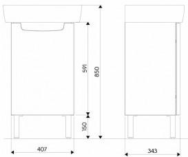Тумба с раковиной подвесная Kolo Rekor 40.7 см белый глянец K99025000