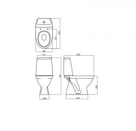 Унитаз напольный компакт Kolo Modo + Сиденье в комплекте L39004000