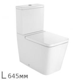 Чаша унитаза Roca Inspira Square 64,5х37 см с универсальным выпуском белый A342537000