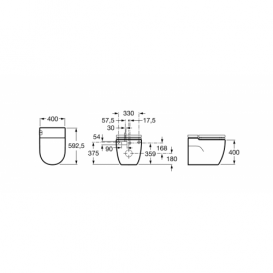 Унитаз напольный Roca Meridian In-Tank с интегрированным в чашу бачком и крышкой с сиденьем A893303000