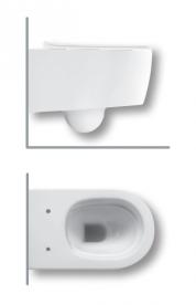 Унитаз подвесной безободковый Hatria Fusion 35.5х54 см с функцией биде белый VBY1CC01