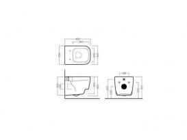Унитаз подвесной Hatria Fusion 48 35х48 см белый YXZL01
