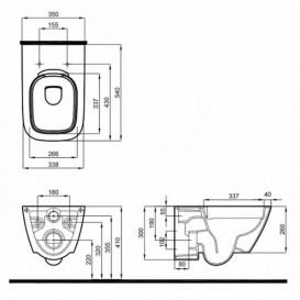 Унитаз подвесной Kolo Modo Pure Rimfree с сидением и инсталляцией Geberit Duofix Sigma L33123000 + L30112000 + 111.300.00.5