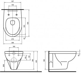 Унитаз подвесной Kolo Primo с сидением с микролифтом (белый) YК83100001