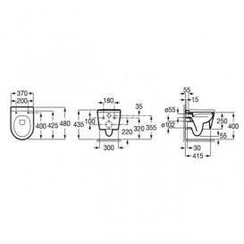Чаша унитаза Roca Inspira Round Compacto Rimless 48х37 см белый A346528000