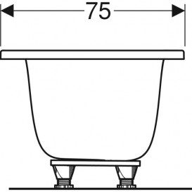 Ванна акриловая Geberit Tawa Slim rim Duo 170х75 с ножками белый 554.123.01.1