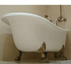 Ванна акриловая отдельностоящая ArtCeram Hermitage 170х80 см белый/золото HEW001 73