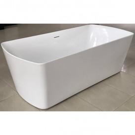 Ванна акриловая отдельностоящая Volle 180х85 с лицевой панелью и сифоном cliсk-claсk белая 12-22-804