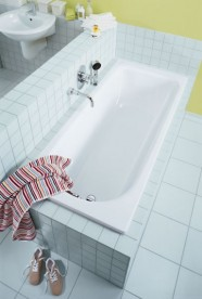 Ванна стальная Kaldewei Saniform Plus 170х70 см 3,5 мм 181 л белый 111800010001