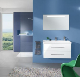 Раковина для ванной подвесная Villeroy&Boch коллекция Avento белая 4156A201