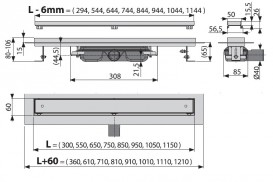 Водосточный желоб AlcaPlast APZ107 Floor Low 950 мм с решеткой APZ107-FLOOR-950