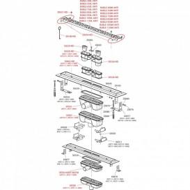 Водосточный желоб AlcaPlast APZ11 Antivandal 550 мм с решеткой APZ11-550M