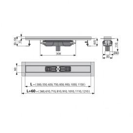 Водосточный желоб AlcaPlast APZ1106 Professional Low 850 мм APZ1106-850