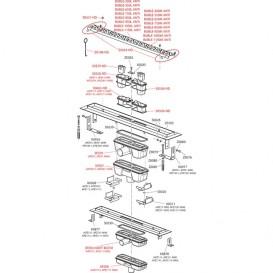 Водосточный желоб AlcaPlast APZ111 850 мм с решеткой Antivandal APZ111-850L